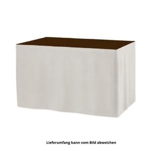 Tisch Skirting, Tischverkleidung Faltenlos 410x73cm Weiß