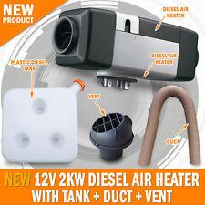 NEW 12 Volt 2KW Diesel Air Heater, Tank, Vent, Duct Caravan Motorhome RV Planer