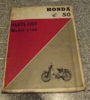 C100 C105 50cc 1960's PARTS BOOK LIST MANUAL GENUINE HONDA FACTORY COPY RARE!!