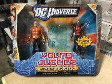 MATTEL AQUAMAN & AQUALAD YOUNG 2-PACK YOUNG JUSTICE DC UNIVERSE ACTION FIGURE