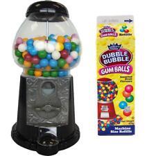 Bubble Gum-Kugel Automat 27cm schwarz mit 1 Packung Dubble Bubble Gum-Balls