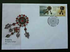 Latvia Kazakhstan Joint Issue Traditional Jewelry 2006 Jewellery Craft (FDC)