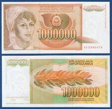 JUGOSLAWIEN / YUGOSLAVIA 1.000.000 Dinara 1989 UNC  P.99