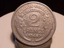 PL3(28) - 2 FRANCS - MORLON - ALU - 1945 B - DEFAUTS ! STRIES !!!