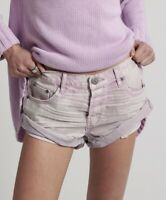 One Teaspoon Bandits Shorts Jean 23 24 25 26 27 28 29 Distressed Lilac MoonStone