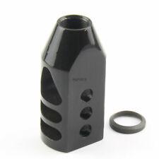 Black Tanker Style Muzzle Brake Triangular Baffl 5/8x24 Pitch for .308 /w washer