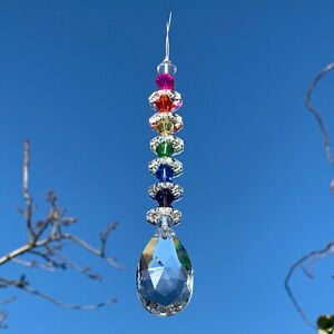 New Rainbow Hanging Sun Catcher Glass Crystal Drop ~ Pride ~ Mobile