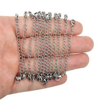 10Pcs Stainless Steel Necklace Bracelet Extender Chains Set DIY Jewelry Making
