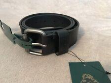 Luke Sport Logo Oskar Belt Genuine leather  Size M Black