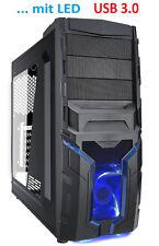 "Gamer PC Tower Gehäuse  AZZA Draco  207 ATX mit LED-Lüfter USB 3.0 2,5"" HDD"
