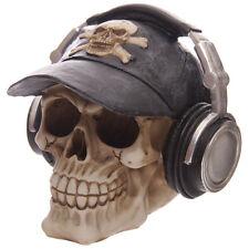 Spardose Totenkopf mit Kopfhörer Mystik Mittelalter Gothic Skull Schädel NEU