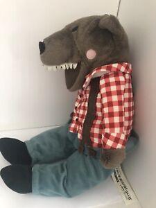 IKEA Lufsig Big Bad Wolf Soft Cuddly Plush Toy Animal