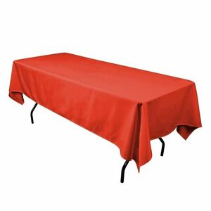 Gee Di Moda Tablecloth Rectangular 60 x 102 inch Polyester - Red