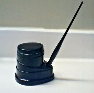 Vintage art deco black celluloid Morriset pen ink unit with pen