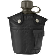 Mil-Tec Military Canteen Water Bottle Carrier Holder Pocket Army Alice 1l Black