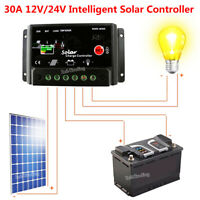 USA 30A PWM PV Solar Charge Controller W/ CE 12Volt Solar Panel Battery RV Boat