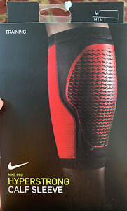 New Nike Pro Hyperstrong Calf Sleeve Red Size medium