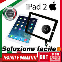 TOUCH SCREEN+VETRO+HOME ORIGINALE PER APPLE IPAD 2 WIFI 3G A1395 A1396 A1397_24H