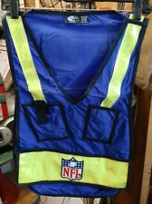 NOS SEE-BAK Cycling Work Vest Highly Reflective Safety One Size Blue RARE NFL