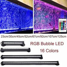 Colourful LED Air Bubble Curtain Submersible Light Bar for Fish Tank Aquarium AU