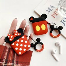 Disney Minnie & Mickey Earphone Case Cover For Airpods Charging Holder Bag