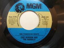 "Eric Burdon and the Animals – San Franciscan Nights 1970 USA 7"" MGM MVG 501"