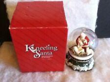 Roman The Kneeling Santa Holding Baby Musical Silent Night Christmas Water Globe