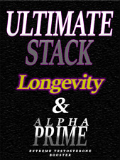 Longevity Sexual Enhancement & Test Booster/ Ultimate Stack - 2Mth Supply