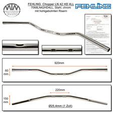 Fehling Handlebars LN42HD 4LL Flat, Wide 1 Inch Chrome with 4 Langlöchern