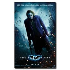 The Dark Knight Joker 24x38inch Heath Ledger Movie Silk Poster Room Decoration
