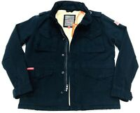 Superdry Women' Winter Rookie Military Jacket In Navy Blue Size M