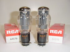 2 Vintage NOS 1972 RCA 6AS7G 6AS7 6080 5998 O Getter Matched Amp Tube Pair