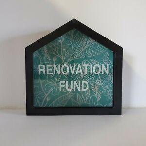 """RENOVATION FUND"" MONEY BOX BANK / GLASS FACE / GIFT IDEA / BRAND NEW!"