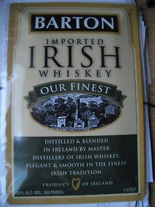 Blechschild Barton Irish Whiskey Whisky Kneipe Bar Deko 20x30 gewölbt