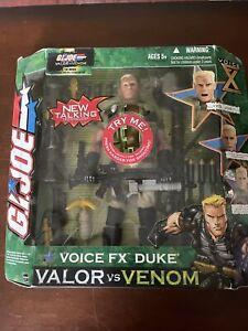2003 GI Joe Voice FX Duke Valor vs Venom Action Figure NEW IN BOX by Hasbro