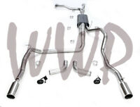 """Dual 3"""" Cat Back Exhaust For 04-15 Nissan Titan 5.6L V8 With Flowmaster Muffler"""