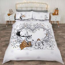 Rapport Stag and Friends Rabbit Squirrel Bird Easy Care Duvet Cover Bedding Set