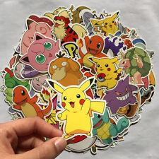 80pc POKEMON GO Laptop Skateboard Sticker Pikachu Cartoon Stickers Luggage Decal