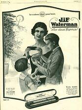 Publicité Ancienne Jif Waterman 1925  issue de magazine