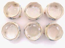 Antique Six Willets American Belleek hand-painted porcelain open salt dishes