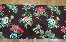 Rose Tree Queensland Brown Floral Lined Valance 19x80 Set of 2