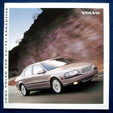 Prospekt brochure 2002 Volvo S80 2.9 * T6 * Executive (USA)
