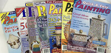 7 Quick & Easy Painting Magazine w/Patterns Tole Decorative Painting 1998-2000