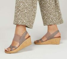 Skechers Beverlee High Tea Women's Wedge Sandals with Foam Footbed