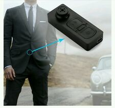 SECRET WITNESS  Mini Button Spy Camera Shirt Hidden Camera Video DVR Camcorder