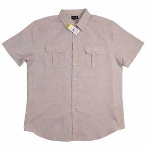 Structure Mens Shirt XL Short Sleeve Printed Texture Modern Fit Lightweight NWT