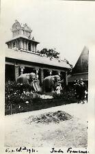 PHOTO ANCIENNE - VINTAGE SNAPSHOT - EXPOSITION COLONIALE 1931 INDES FRANÇAISES