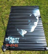 """Tim Burton's Planet of the Apes Movie poster banner Mark Wahlberg 48"""" x 70"""" HUGE"""