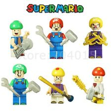 Super Mario 6 Action Minifigures Toy Building Blocks For Kids Birthday Gift
