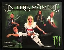IN THIS MOMENT BAND SIGNED AUTOGRAPH 8.5 X 11 POSTER MARIA BRINK RARE